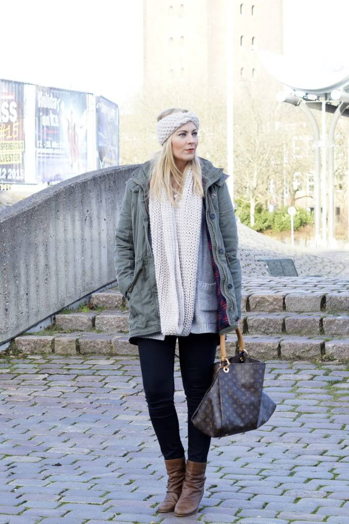 winteroutfit-strickstirnband-parka-fashion-outfit-tantedine