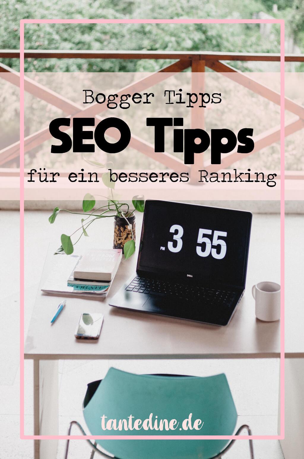 SEO Tipps für Blogger besseres Ranking tantedine