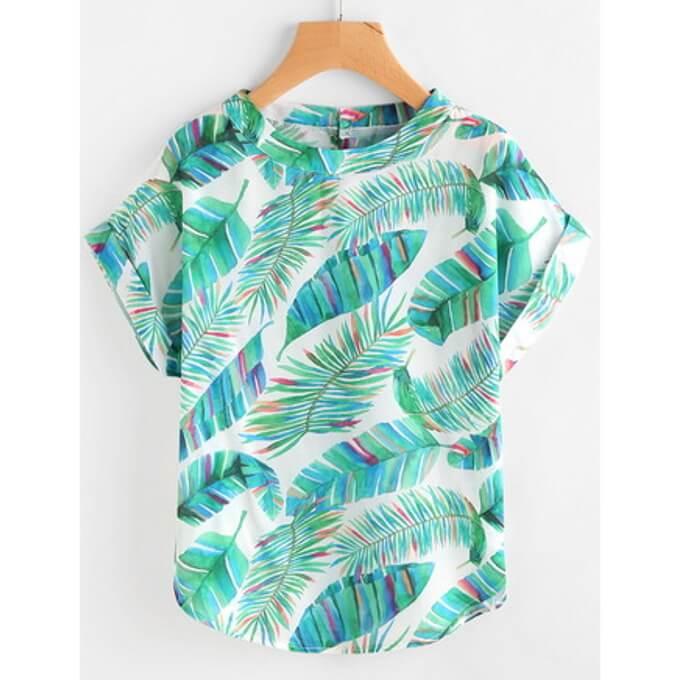 Shirt Palmenprint