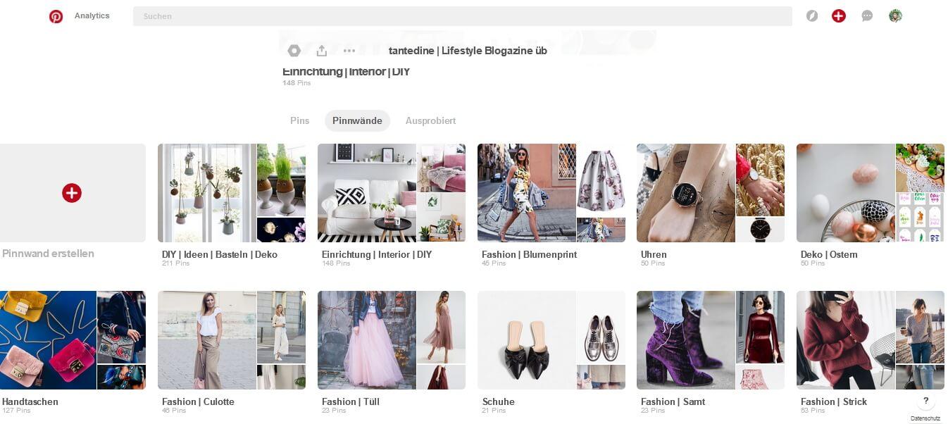 Pinterest Schaufenster & Cover einrichten