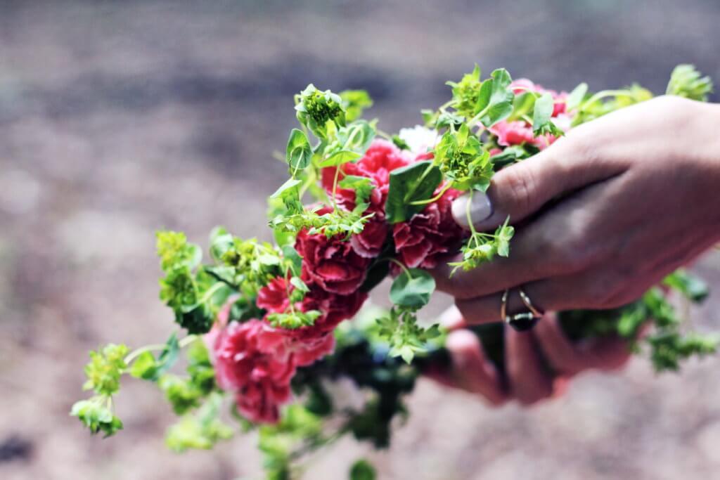 Blumenkranz DIY | zauberhafte Flowercrown tantedine