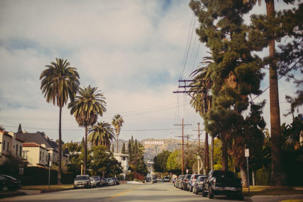 Hello from California Beverly Hills Hollywood Zeichen tantedine