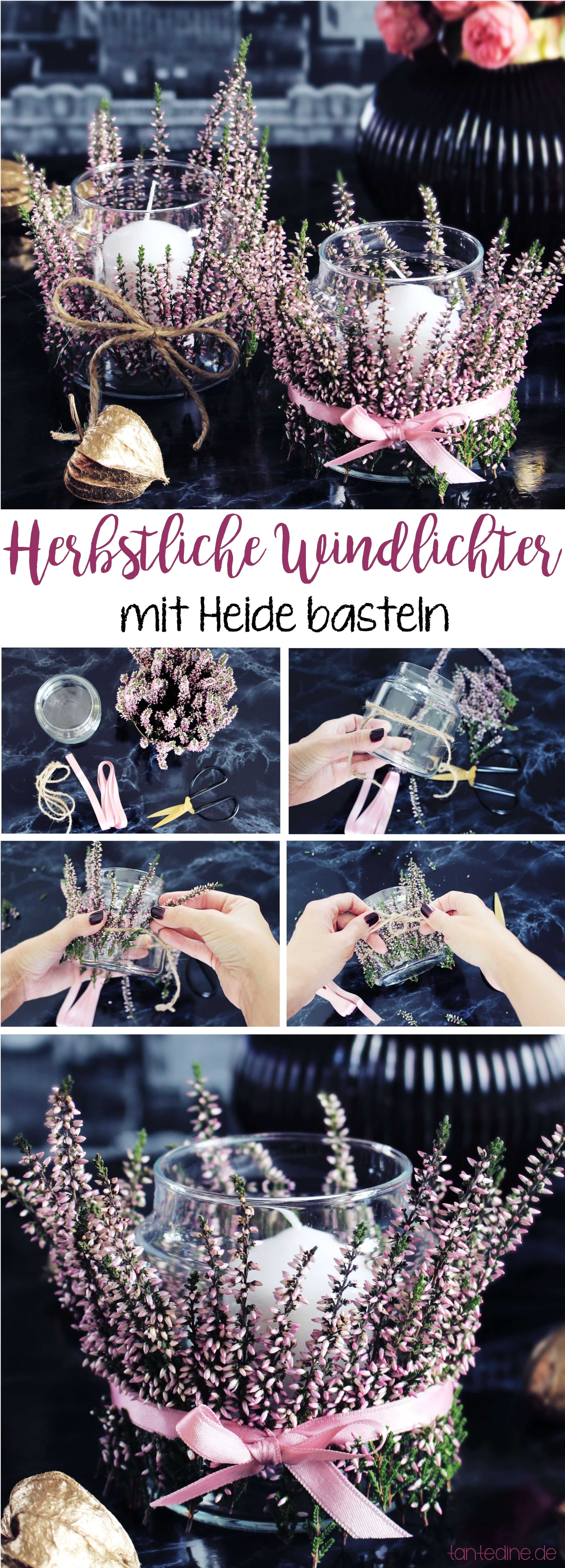 DIY Heide Windlichter basteln tantedine