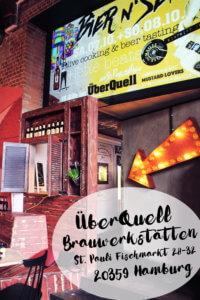 Senf Craft Bier und Pizza in den ÜberQuell Brauwerkstätten Hamburg tantedine
