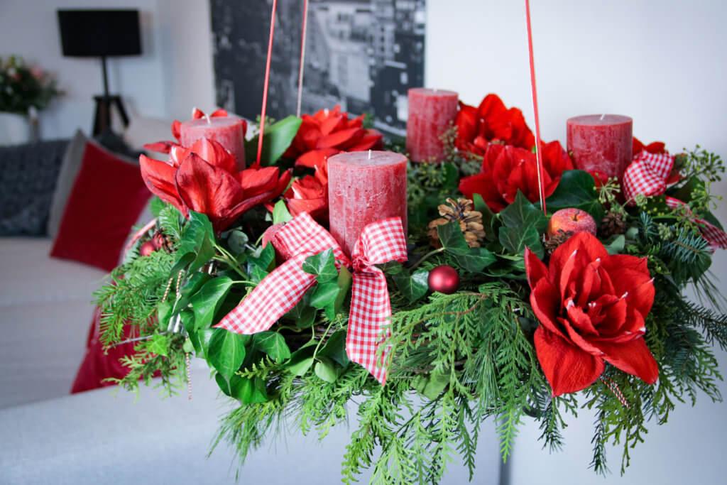 Adventskranz mit Amaryllis DIY tantedine