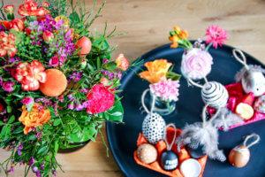 Last Minute Osterdeko Blume2000.de Blumenstrauß Leuchtende Überraschung DIY tantedine
