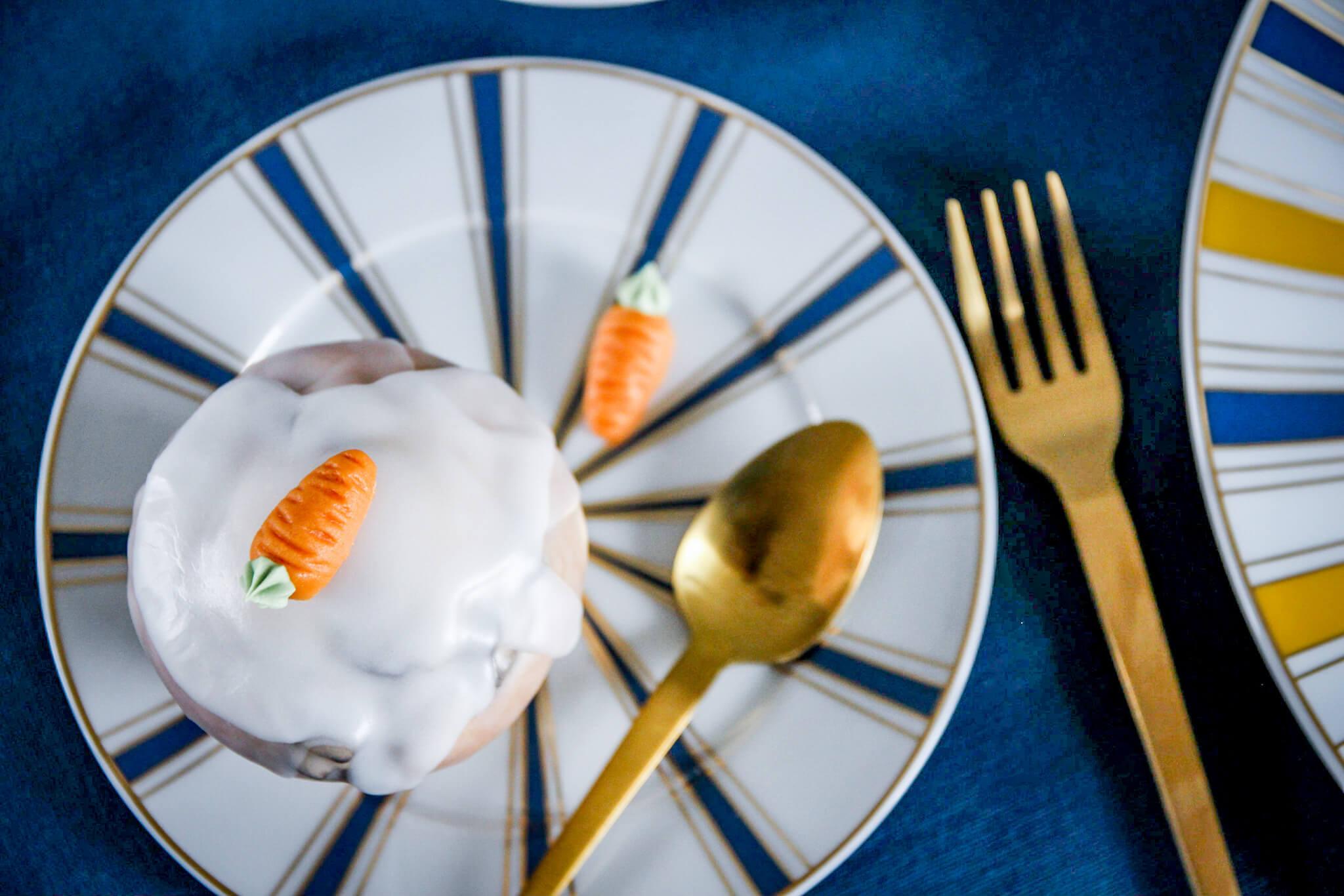Stilvolle Tischdeko Zu Ostern Mit Blau Und Gelb Tantedine 01