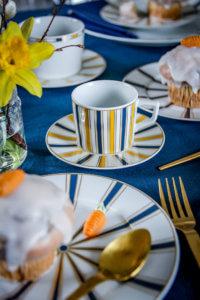 Stilvolle Tischdeko zu Ostern mit Meissen Stripes tantedine