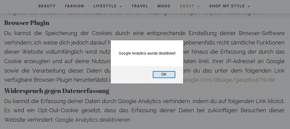 So baut man ein Opt-Out Cookie auf dem Blog ein DSGVO tantedine