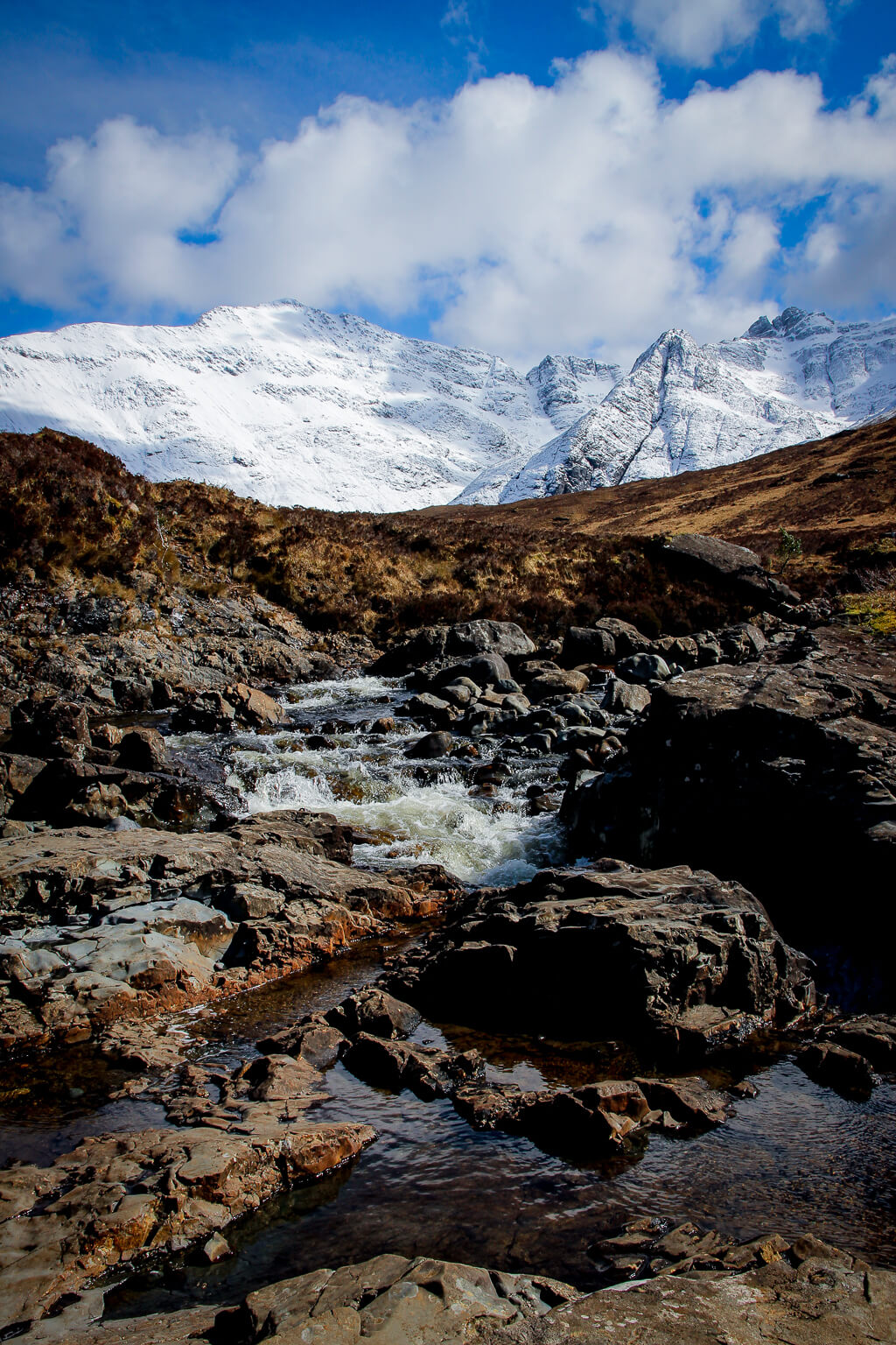 Isle of Skye Schottland Sehenswürdigkeiten Fairy Pools Highlands tantedine