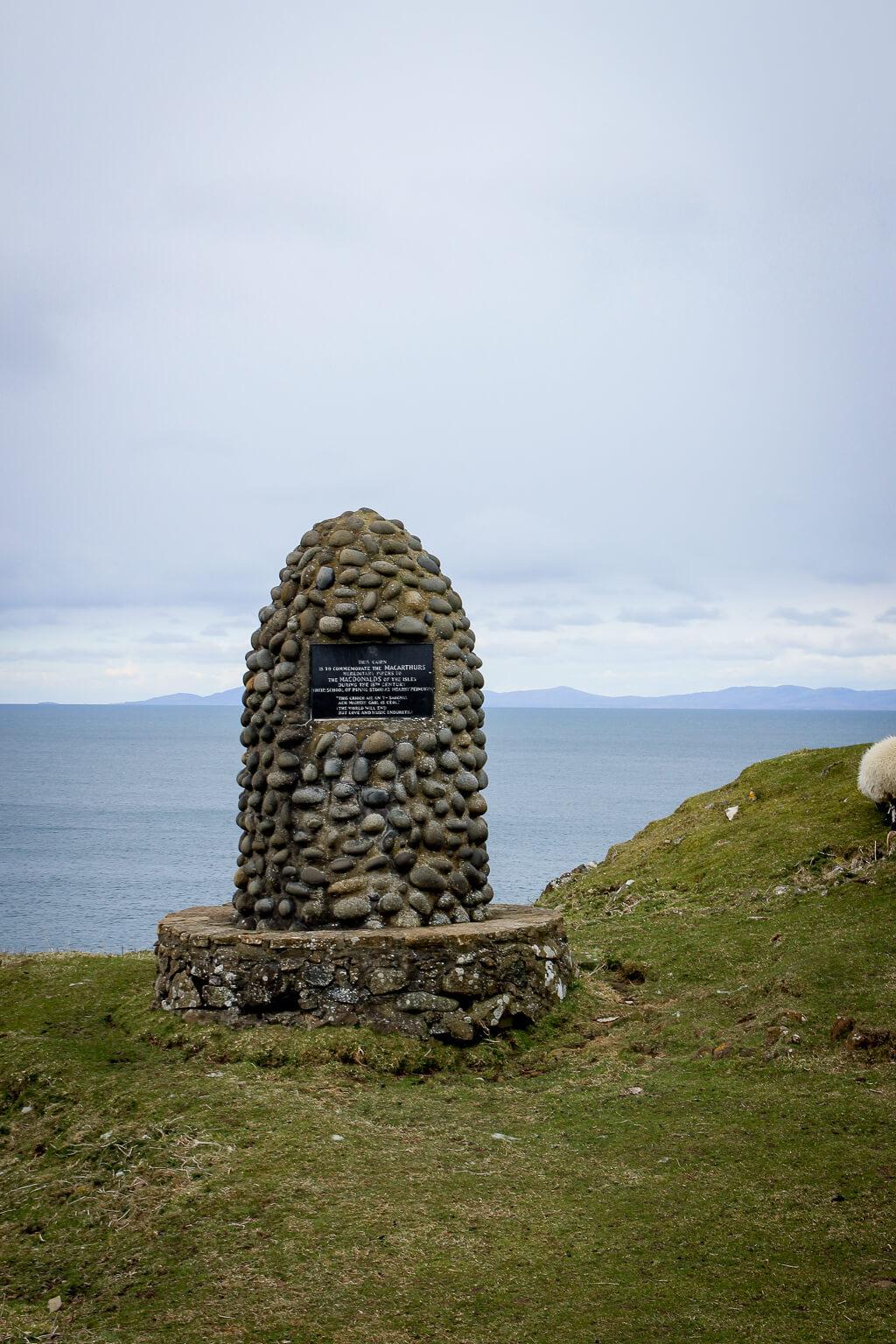 Isle of Skye Schottland Sehenswürdigkeiten Duntulm Viewpoint Castle tantedine