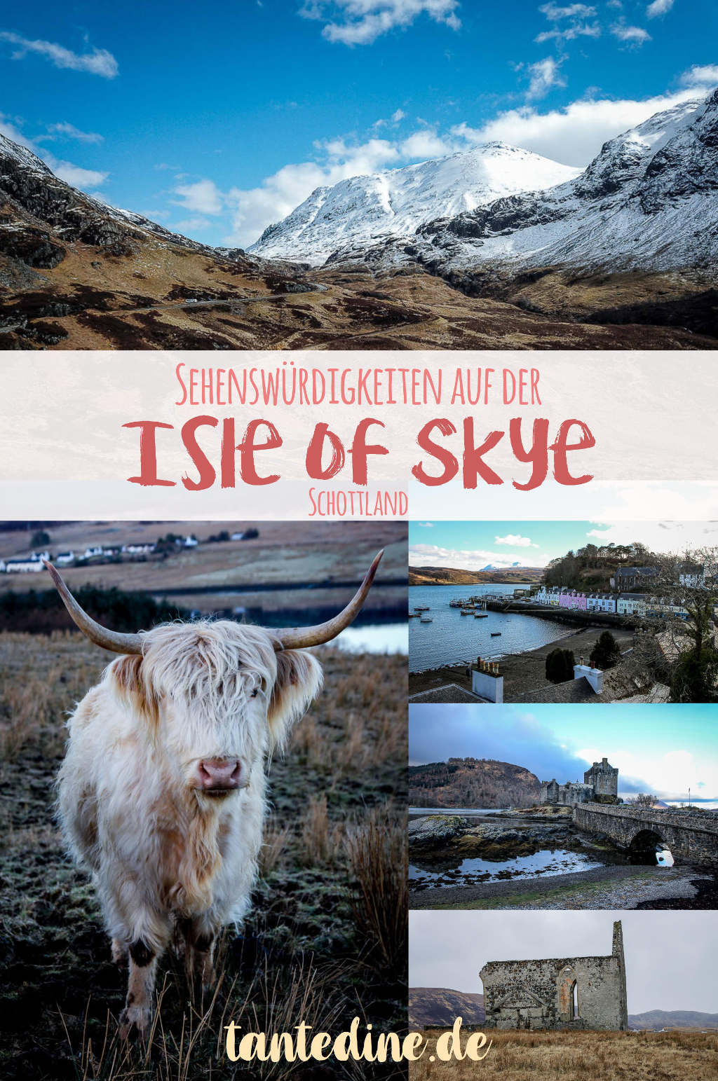 Isle of Skye Schottland Sehenswürdigkeiten Fairy Pools Castle Waterfall Highlands tantedine