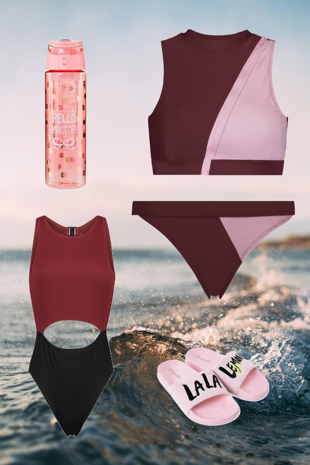 bademode sportlich badeanzug trends 2019 hunkemöller stripes shopping tantedine